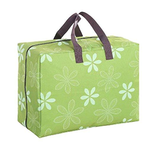 Dexinx Kleidertaschen-Set Leichtgewicht Wasserdicht Kleidertaschen Verpackungswürfel Steppdecke Organizer Grün2 60 * 49 * 33CM