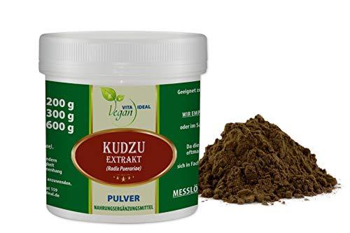 VITAIDEAL VEGAN® Kudzu Extrakt Pulver (Radix Puerariae) 200g inklusive Messlöffel rein natürlich ohne Zusatzstoffe.