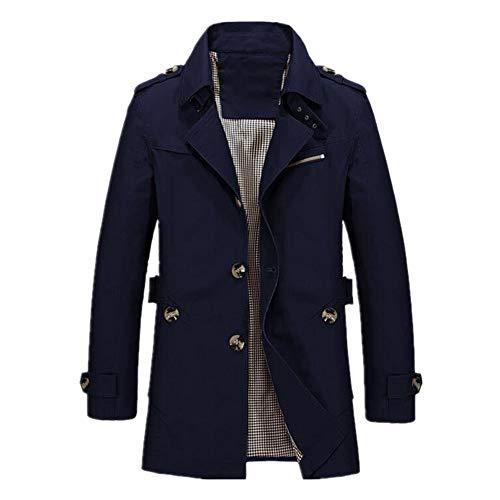 N\P Chaqueta de primavera para hombre, con capucha, para tiempo libre, chaqueta fina para hombre Negro XXXXL