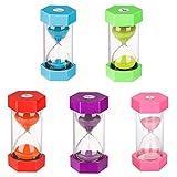 Reloj de arena Reloj de arena para niños Reloj de arena Juego de reloj de arena Reloj de arena colorido Reloj de cocina incluye 1 minuto, 3, 5, 10 y 30 minutos de reloj de arena (5 piezas)