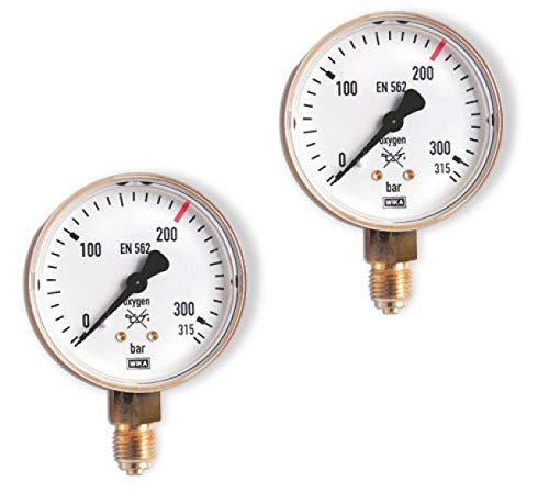 GCE Manometer Neutral Argon/CO2 Inhaltsdruck bis 300 bar 388411361401P Zubehör Manometer