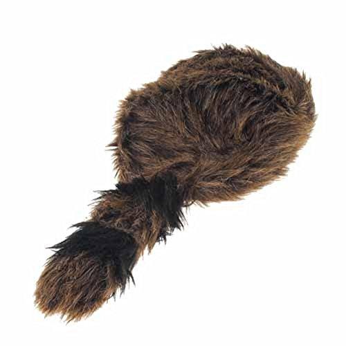 MyPartyShirt Raccoon Tail Adulte Chapeau Fourrure Coonskin Cap Davey Crockett Coon Peau Daniel Boone