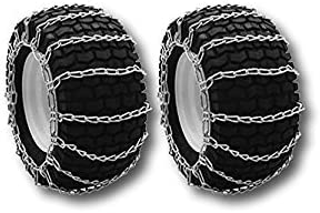 MowerPartsGroup Pair of Snow Mud Tire Chains 2-Link 14x5.50x5 15x5.00x6 15x6.00x6: image