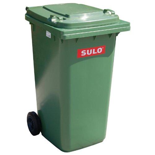 SULO Mülltonne 80l grün a.Niederdruck-PE Rad-D.200mm