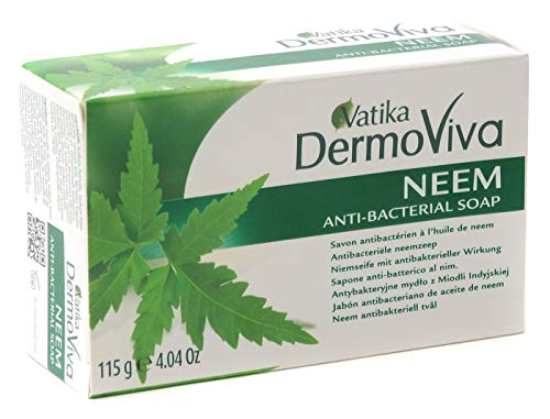 VATIKA Herbal & Natural NEEM SOAP ** Free UK Delivery ** by Shopper's Freedom Pack of 6 - Each one 115g