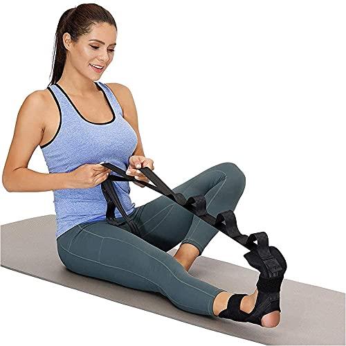 MOPOIN Cinturones elásticos de Yoga, Banda de Ejercicio Cinturón de Yoga Cinturón de Yoga Ajustable Bandas de Fitness para la corrección de la articulación del Tobillo del pie de Fitness