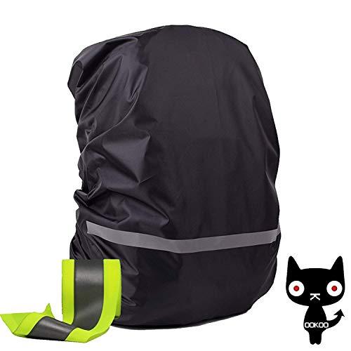 OOKOO - Funda impermeable y reflectante para mochila, Negro  (Negro) - OOKOO-BAGCASE-BLACK-M