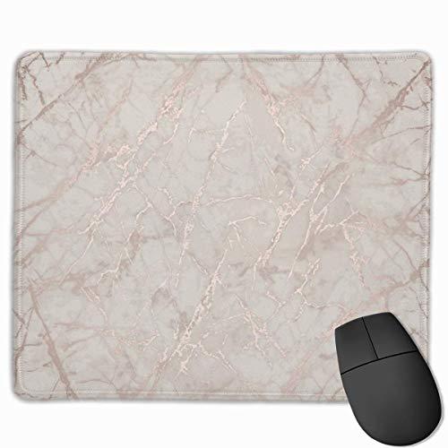 Roségold Tapete Marmor Mauspad mit rutschfester Gummibasis und wasserdichtem Mauspad mit genähten Kanten Mauspads für Computer Laptop Gaming Office & Home