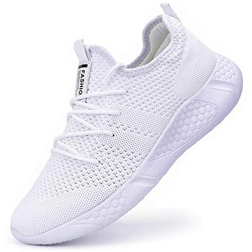 BUBUDENG Zapatillas de Running para Mujer Casual Tenis Asfalto Zapatos Deporte Fitness Gym Correr Gimnasio Deportives Transpirables Seguridad Atlético Trekking Bambas Plataform Sneakers
