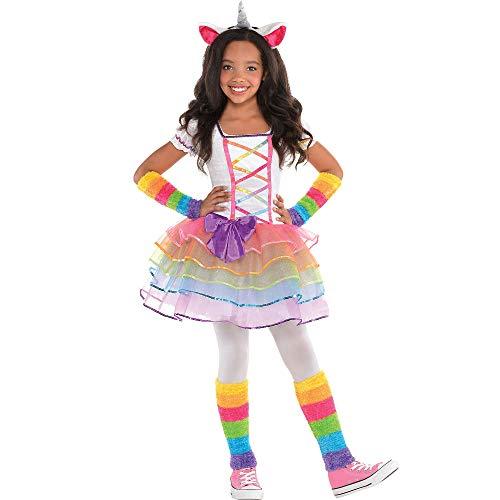 Arco iris Unicornio Disfraces Niñas Equipar Grande 8-10 años