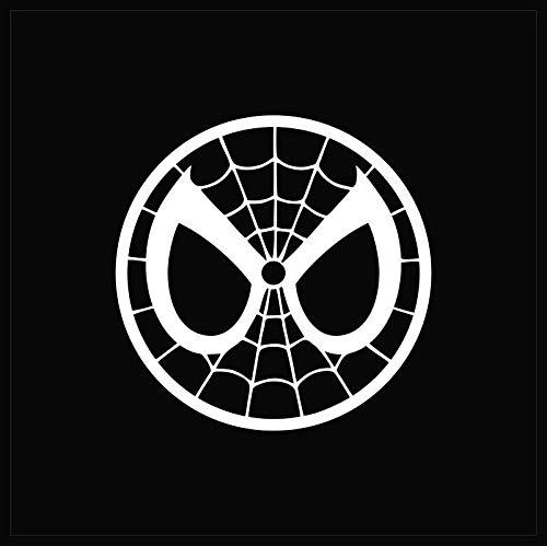 Spiderman Mask NOK Decal Vinyl Sticker Cars Trucks Vans Walls Laptop White 5.5 x 5.5 in NOK022