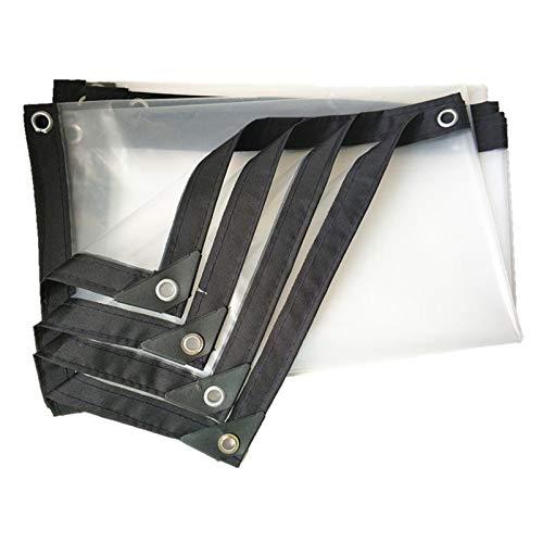 CGF- Transparente Cubierta de Lona Transparente, Resistente, Material Grueso, Impermeable, antidesgarro, Ideal para toldo de Lona, Barco, RV o Cubierta de Piscina (Grosor 0,12 mm)