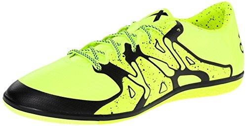 adidas Performance Men's X 15.3 IN Soccer Shoe,Gold/Black/Shock Pink,13 M US