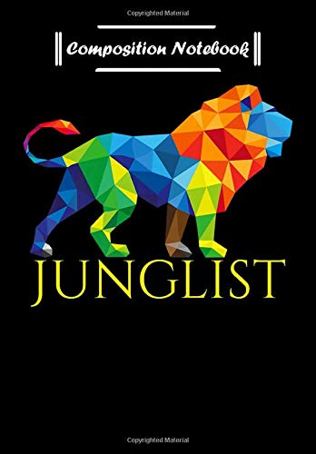 Composition Notebook: Junglist Movement Lion Drum And Bass Music Gift, Journal 6 x 9, 100 Page Blank Lined Paperback Journal/Notebook