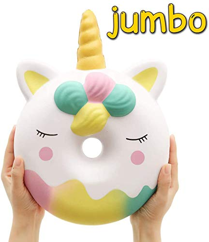 %20 OFF! Anboor 13 Inches Squishies Jumbo Unicorn Donut Kawaii Soft Slow Rising Scented Giant Doughn...