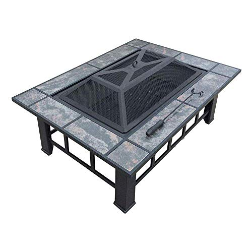 %38 OFF! HEWEI Fire Pit Set Wood Stove Pit - Includes Screen Cover and Log Poker - Great for Outdoor...