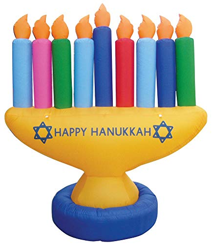 7' Air Blown Inflatable Hanukkah Menorah Yard Decoration