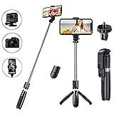 Best Bluetooth Selfie Sticks - Selfie Stick Tripod with Wireless Bluetooth Remote, 3 Review