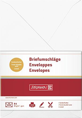 Brunnen 105125600 - Sobre de papel universal, B6, color blanco