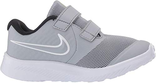 Nike Unisex-Kinder Star Runner 2 (TDV) Leichtathletikschuhe, Mehrfarbig (Wolf Grey/White/Black/Volt 5), 25 EU