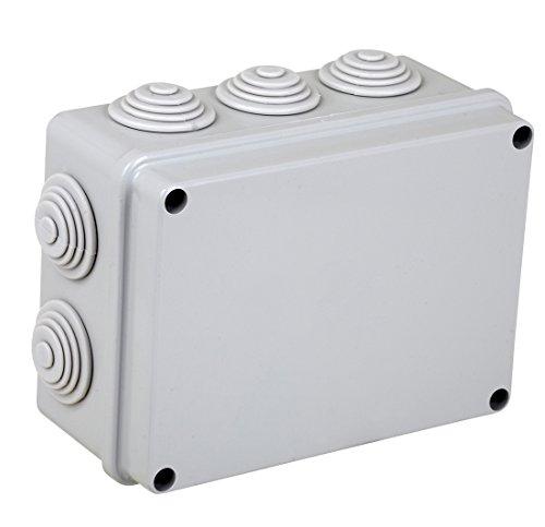 Electraline 60556 Cassetta di Derivazione da Parete, Misura 190x140 mm, IP55, Grigio, 190x140x70