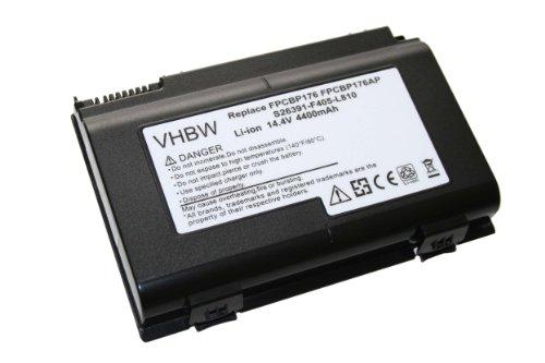 Batterie LI-ION 4400mAh 14.4V noir compatible pour FUJITSU-SIEMENS Lifebook remplace FPCBP176, FPCBP176AP, S26391-F405-L810
