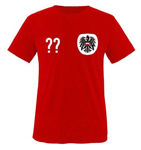 Trikot - at - WUNSCHDRUCK - Herren T-Shirt - Rot/Weiss-Schwarz Gr. XXL