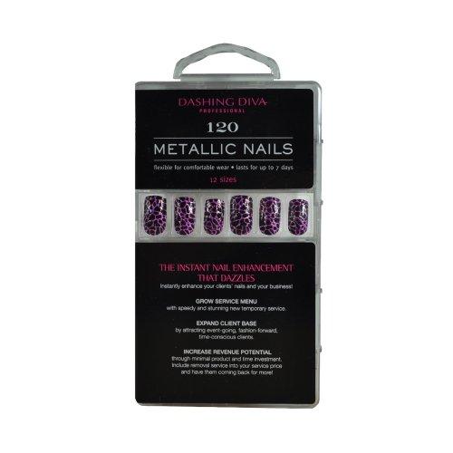 Dashing Diva Metallic Nails, Purrfectly Pink, 120 Count by Dashing Diva