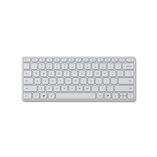 Microsoft Designer Compact Keyboard (deutsches QWERTZ Tastaturlayout, Monza Grau, kabellos)