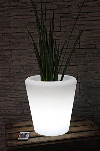 Arnusa Oasis Lights LED Blumentopf PL123 Pflanzkübel beleuchtet mit Fernbedienung und Akku. 16 Farben per Fernbedieung wählen