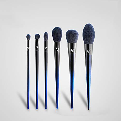 ZYFF huazhuangshua Pinceaux de maquillage, 7 Pcs Cadeau Pinceau Beauté Set Pinceau Cosmétique Collection Fondation Fard À Paupières Mélange Contour Conceal Blush, pour Dames, Bleu