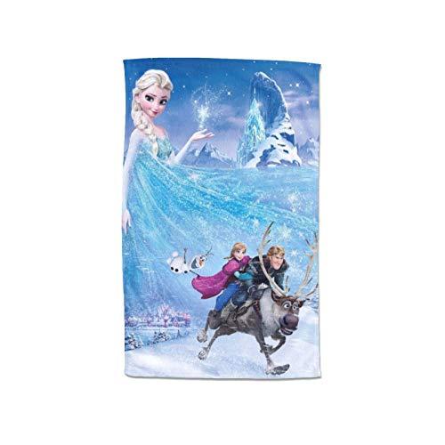 Toalla de baño de lujo Disney Frozen 100% algodón, muy absorbente, extragrande, de secado rápido, súper suave, ideal para cuerpo alto y grande (80 x 130 cm)