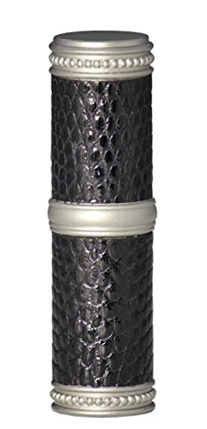 ジョリー受ける代数的ヒロセアトマイザー 手作りブラスアトマイザー リザード本革巻き 95203 MSBK (ブラスリザード マットシルバー/ブラック)
