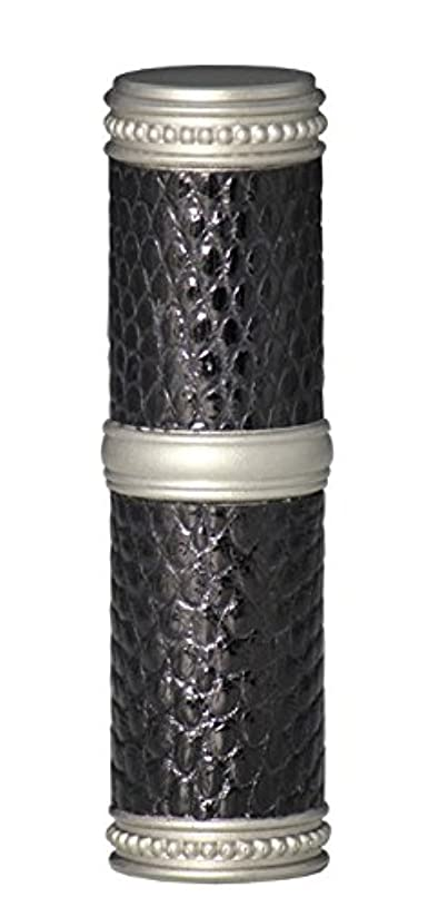 尾創造伸ばすヒロセアトマイザー 手作りブラスアトマイザー リザード本革巻き 95203 MSBK (ブラスリザード マットシルバー/ブラック)
