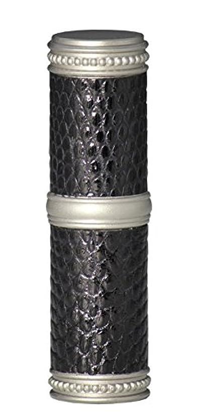 確かめる同化する動かすヒロセアトマイザー 手作りブラスアトマイザー リザード本革巻き 95203 MSBK (ブラスリザード マットシルバー/ブラック)