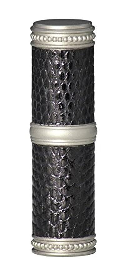 農民ヒゲ瞳ヒロセアトマイザー 手作りブラスアトマイザー リザード本革巻き 95203 MSBK (ブラスリザード マットシルバー/ブラック)