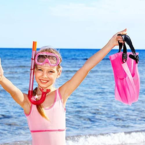 Bolsa de Malla de Playa Mochila Juguetes de Playa Bolsas de Ropa Organizadores de Almacenamiento de Juguetes Bolsa Rosa roja