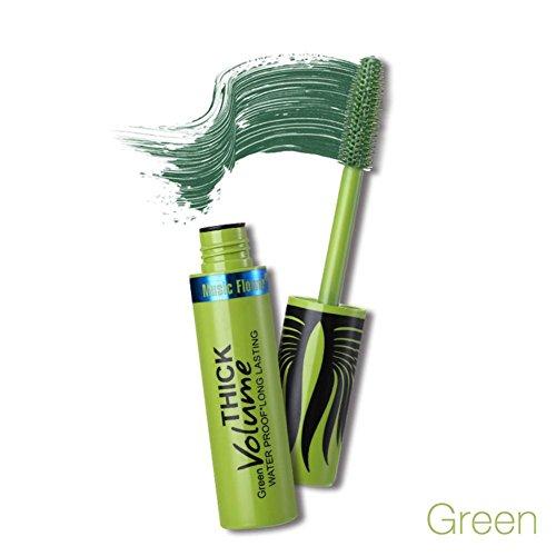 Schwarz Mascara Volumen, wasserdicht, buntes 3D Curling Lange Lasting Wimpern Mascara schwarz, braun, grün, blau, lila, ein Charming Eye Look (8ml)