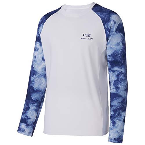 Bassdash Camiseta de Manga Larga para Hombre Camiseta de Camuflaje Performance con protección Solar 50 UPF de Secado rápido