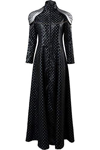 Cosplaysky Game of Thrones Season 7 Costume Cersei Lannister Dress Outfit Medium Black