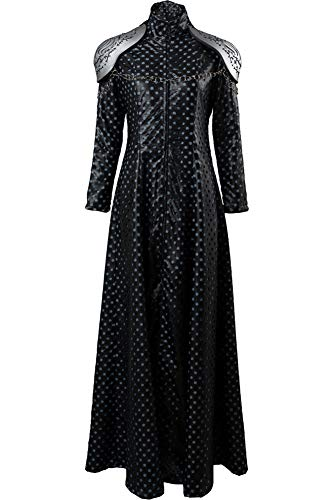 Cosplaysky Game of Thrones Season 7 Costume Cersei Lannister Dress Outfit X-Large Black