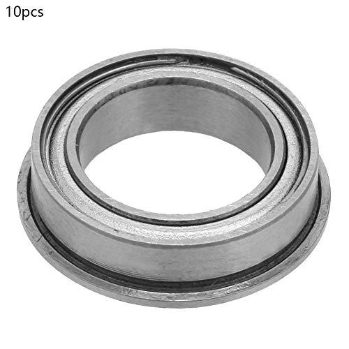 10 unids 10 * 19 * 7 mm 10 * 15 * 4 mm de doble lado sellado de ranura profunda rodamientos de bolas de brida de acero de acero prensado(F6700ZZ)