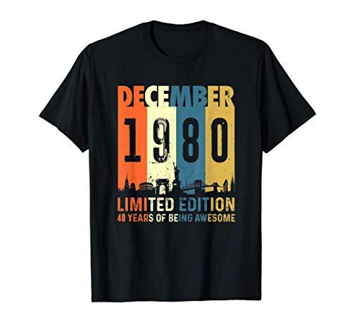 Edición limitada para 40 años, nacido en diciembre 1980 Camiseta