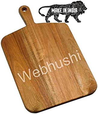 Webhushi's Classic Wooden Chopping/Cutting Board/Serving Platter, Large (18X10.5 in) - BORAHC0002