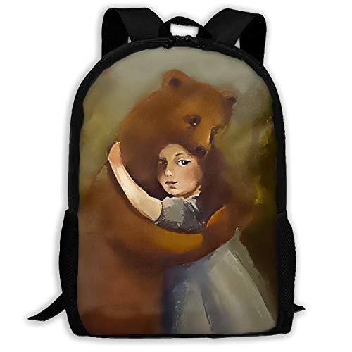 SARA NELL School Backpack Best Friends And The Best Bear Hugs Bookbag Casual Travel Bag For Teen Boys Girls