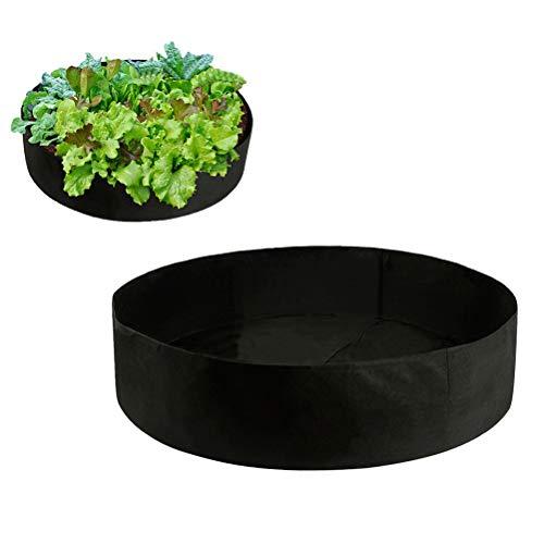 Sacchi per Piante di Tessuto Non Tessuto per Piante Borse da Giardino 90 x 30cm (Nero)