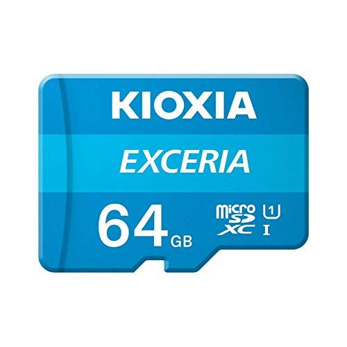 Kioxia 16 GB / 32 GB / 64 GB / 128 GB / 256 GB microSD Exceria Flash cartão de memória U1 R100 C10 Full HD Alta velocidade de leitura 100 MB/s, 64GB