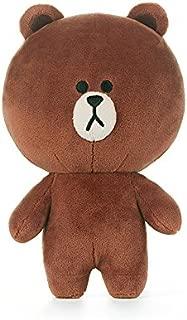 LINE FRIENDS Plush Figure - Brown Character Design Stuffed Animal Toy, Standing Medium