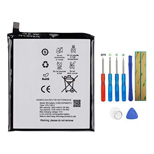 Swark Bateria BQ 3100 Compatible con BQ Aquaris V con herramientas