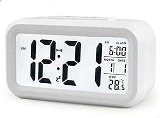 ساعة منبه مضيئة بشاشة ال اي دي كبيرة